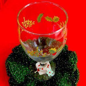 Snowflake ❄️ Wine 🍷 Christmas glass